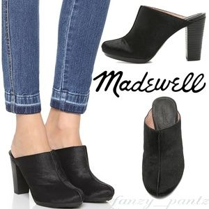 Madewell clogs Francis mules 6 calf hair *new*
